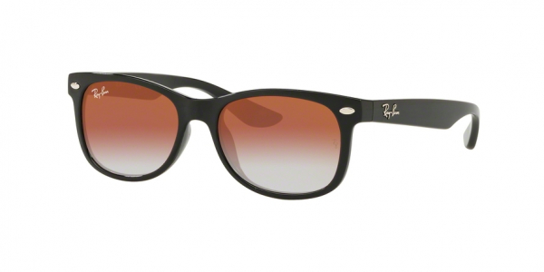 RAY-BAN RJ9052S JUNIOR NEW WAYFARER style-color 100/V0 Black / clear gradient red mirror red Lens