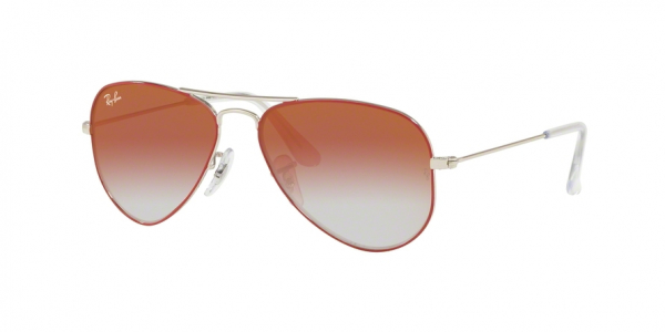 RAY-BAN RJ9506S JUNIOR AVIATOR style-color 274/V0 Silver ON Top Red / red mirror red Lens