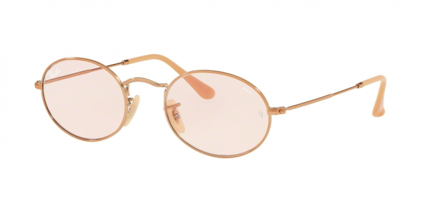 RAY-BAN RB3547N OVAL style-color 91310X Copper / evolve light pink Lens