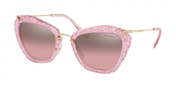 MIU MIU MU 10NS NOIR style-color 1467L1 Glitter Pink / pink mirror silver gradient Lens