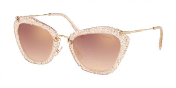 MIU MIU MU 10NS NOIR style-color 155AD2 Glitter Gold / gradient pink mirror pink Lens