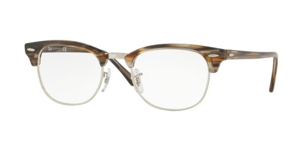RAY-BAN RX5154 CLUBMASTER style-color 5749 Brown / Grey Stripped