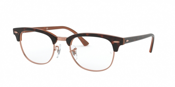 RAY-BAN RX5154 CLUBMASTER style-color 5884 Top Havana ON Brown