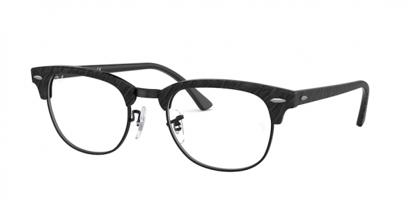 RAY-BAN RX5154 CLUBMASTER style-color 8049 Top Wrinkled Black ON Black