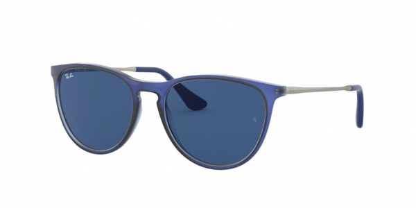 RAY-BAN RJ9060S style-color 706080 Rubber Trasp Blue / dark blue Lens