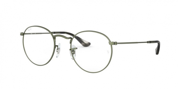 RAY-BAN RX3447V ROUND METAL style-color 3073 Sand Trasparent Green