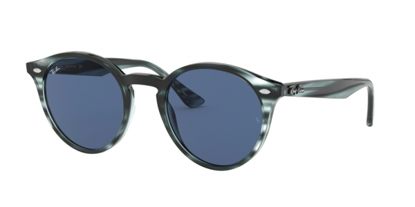 RAY-BAN RB2180 style-color 643280 Stripped Blue Havana / dark blue Lens