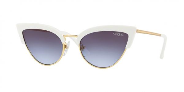 VOGUE VO5212S style-color W7454Q White / Gold / light violet grad dark grey Lens