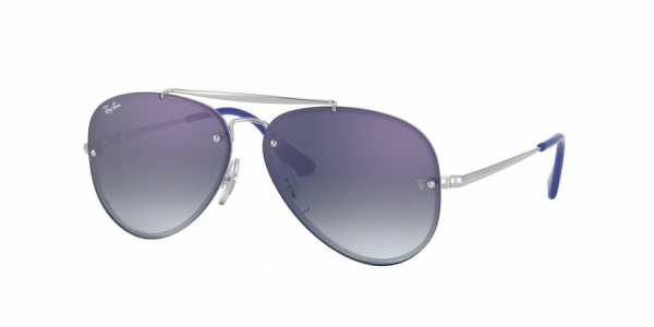 RAY-BAN RJ9548SN AVIATOR style-color 212/X0 Silver / blue mirror red Lens