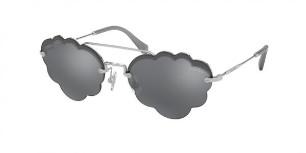 MIU MIU MU 57US CORE COLLECTION style-color 1BC175 Silver / dark grey flash silver Lens