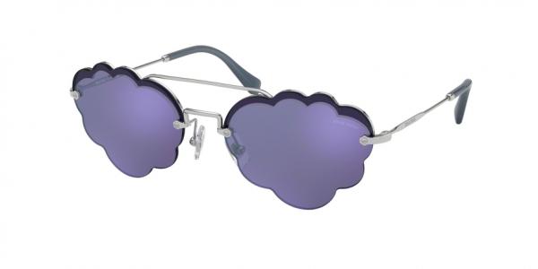 MIU MIU MU 57US CORE COLLECTION style-color 1BC178 Silver / dark blu/violet mirror silver Lens