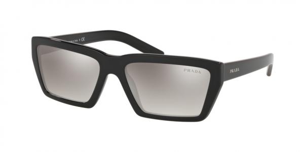 PRADA PR 04VS MILLENNIALS style-color 1AB5O0 Black / gradient grey mirror silver Lens