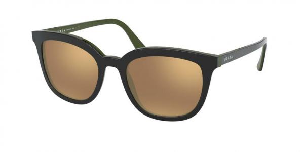 PRADA PR 03XS style-color 542HD0 Top Black / Green / dark brown mirror gold Lens