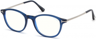 TOM FORD FT5553-B 35704 style-color 090 Shiny Blue
