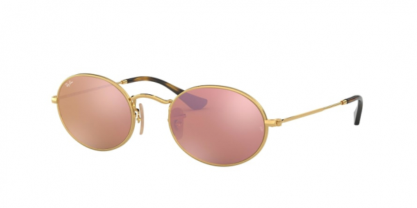 RAY-BAN RB3547N OVAL style-color 001/Z2 Gold / copper flash Lens