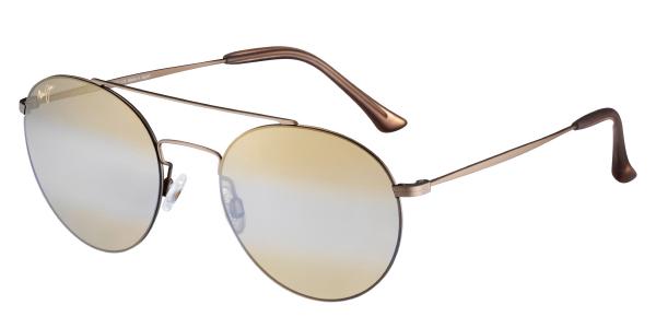 MAUI JIM Sunglasses PELE/'S HAIR H814-16M Gold Matte HCL Bronze MauiBrilliant