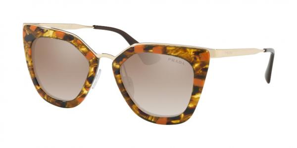 PRADA PR 53SS CATWALK style-color KJN4P0 Striped Brown / Orange / brown grad grey mirror silver Lens