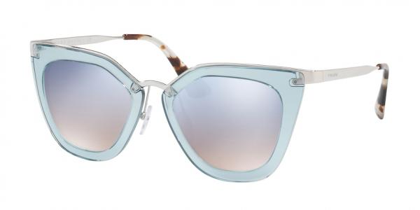 PRADA PR 53SS CATWALK style-color VYS5R0 Transparent Azure / grad light blue mirror silver Lens