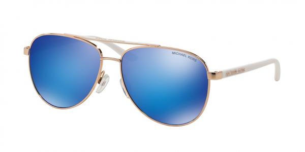 MICHAEL KORS MK5007 HVAR style-color 104525 Rose Gold / White / blue mirror Lens