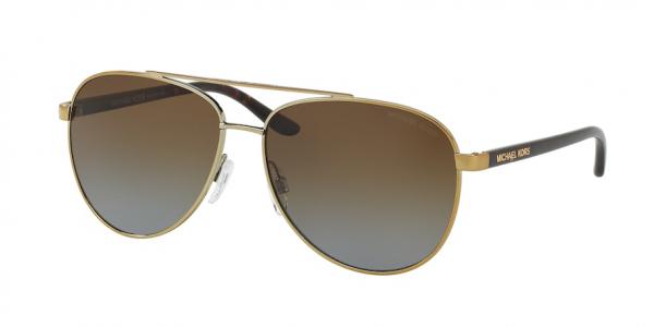 MICHAEL KORS MK5007 HVAR style-color 1044T5 Gold Tortoise / brown gradient polarized Lens
