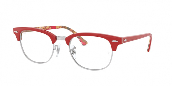 RAY-BAN RX5154 CLUBMASTER style-color 5651 Red ON Texture Camuflage