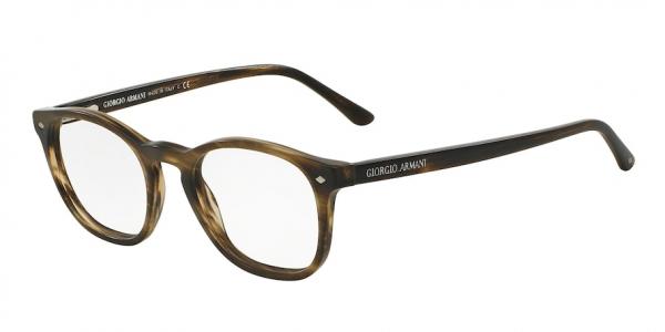 GIORGIO ARMANI AR7074 style-color 5405 Striped Matte Dark Brown