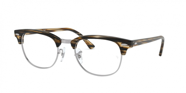 RAY-BAN RX5154 CLUBMASTER style-color 5749 Brown / Grey Striped