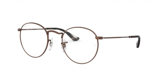 RAY-BAN RX3447V ROUND METAL style-color 3074 Sand Transparent Brown