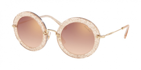 MIU MIU MU 13NS SPECIAL PROJECT style-color 155AD2 Glitter Gold / gradient pink mirror pink Lens