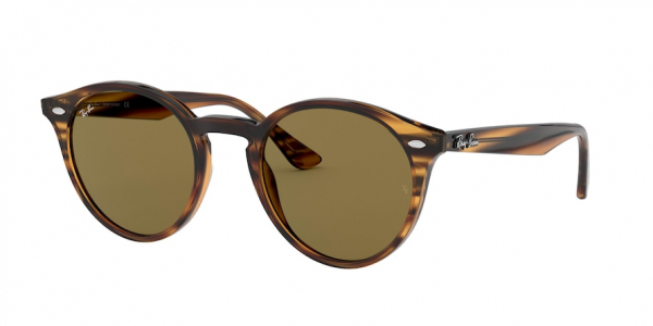 RAY-BAN RB2180 style-color 820/73 Striped Red Havana / dark brown Lens