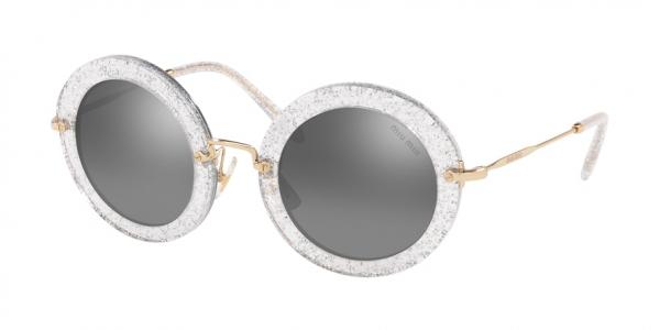 MIU MIU MU 13NS SPECIAL PROJECT style-color 1481B0 Glitter Silver / grey mirror silver gradient? Lens