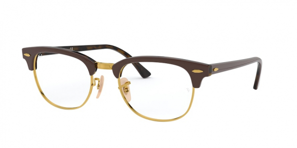 RAY-BAN RX5154 CLUBMASTER style-color 5969 Brown ON Havana Yellow