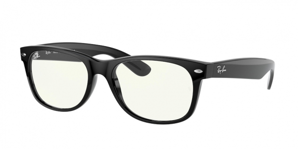 RAY-BAN RB2132F NEW WAYFARER (F) ASIAN FIT style-color 901/BF Black / clear Lens