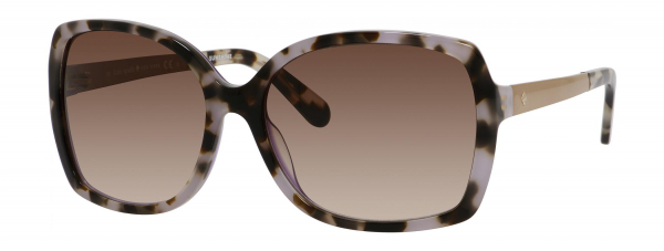 KATE SPADE DARILYNN/S style-color Tortoise Lavender 0W05 / Warm Brown Gradient B1 Lens