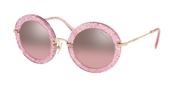 MIU MIU MU 13NS SPECIAL PROJECT style-color 1467L1 Glitter Pink / pink mirror silver gradient Lens
