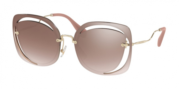 MIU MIU MU 54SS CORE COLLECTION style-color DHOAD5 Brown / gradient brown mirror silver Lens