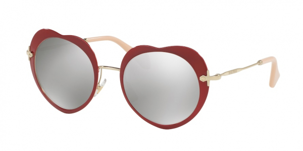 MIU MIU MU 54RS CORE COLLECTION style-color USS2B0 Red / light grey mirror silver Lens