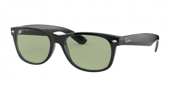 RAY-BAN RB2132F NEW WAYFARER (F) ASIAN FIT style-color 601/52 Black / green Lens