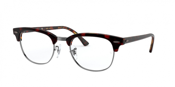 RAY-BAN RX5154 CLUBMASTER style-color 5911 Transparent Red ON Havana