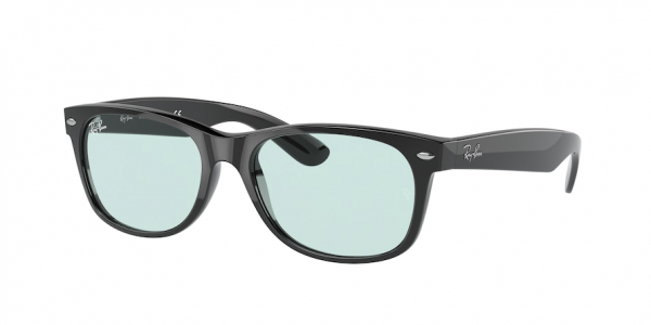 RAY-BAN RB2132F NEW WAYFARER (F) ASIAN FIT style-color 601/64 Black / blue grey Lens