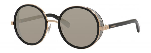 JIMMY CHOO ANDIE/S style-color Rose Gold / Shiny Black 0J7Q / Gray Silver Mirror M3 Lens