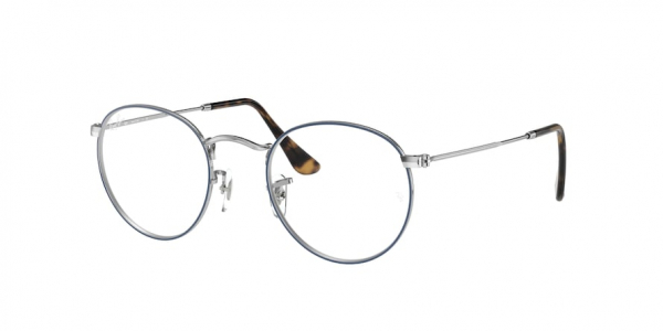 RAY-BAN RX3447V ROUND METAL style-color 2970 Blue ON Silver