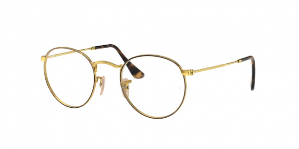 RAY-BAN RX3447V ROUND METAL style-color 2945 Havana ON Arista