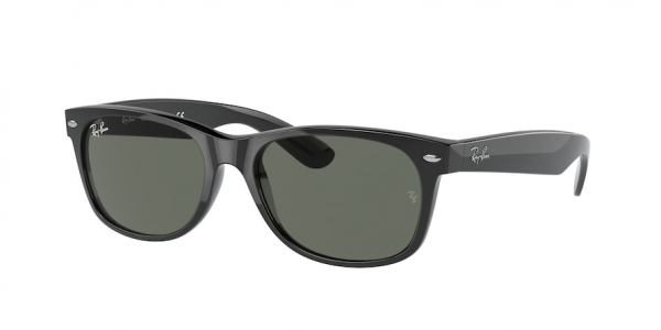RAY-BAN RB2132F NEW WAYFARER (F) ASIAN FIT style-color 901 Black / g-15 green Lens