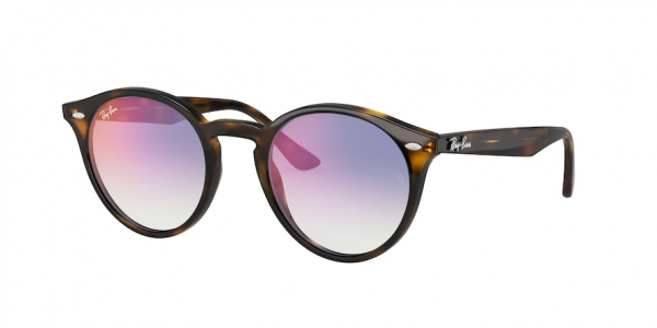 RAY-BAN RB2180 style-color 710/X0 Light Havana / clear gradient blue mirror red Lens