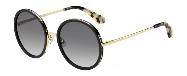 KATE SPADE LAMONICA/S style-color Black Gold 02M2 / Dark Gray Gradient 9O Lens