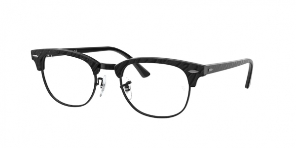 RAY-BAN RX5154 CLUBMASTER style-color 8049 Wrinnkled Black ON Black