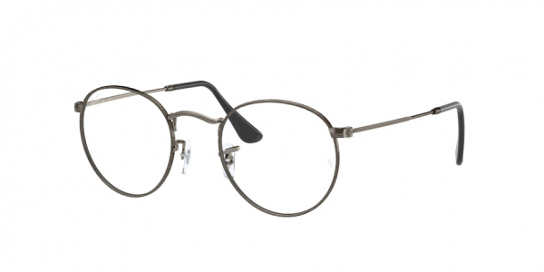 RAY-BAN RX3447V ROUND METAL style-color 3118 Antique Gunmetal