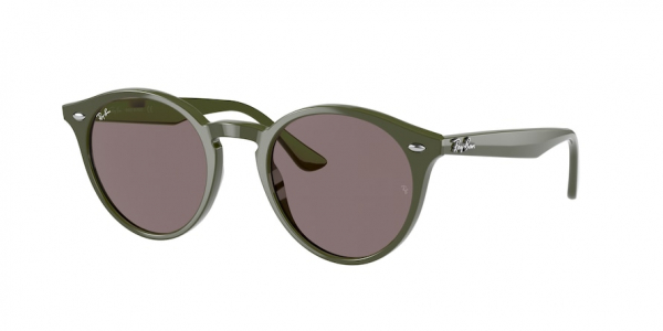 RAY-BAN RB2180 style-color 65757N Military Green / violet Lens