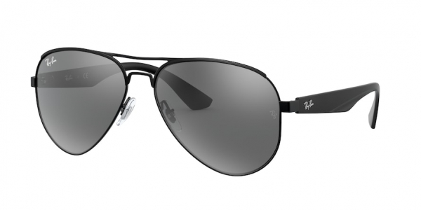 RAY-BAN RB3523 style-color 006/6G Matte Black / grey mirror silver Lens